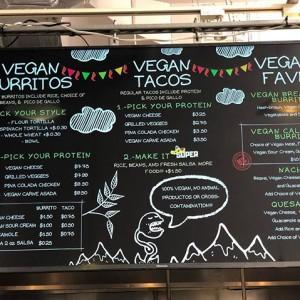 Gordito Amigos Vegan Menu Board
