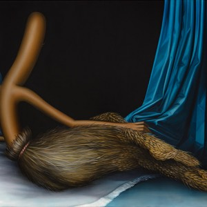 Gleaner Odalisque, 2019. Oil on linen. 129 x 170 cm | 51 x 67 in. Courtesy of the artist & Perrotin. Photographer: Charles Benton