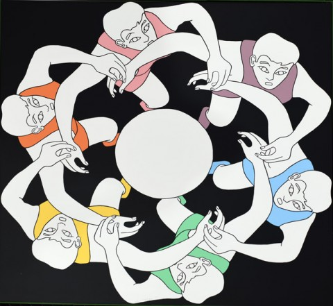 John Wesley, Ovum, from Panoply: Eight Silkscreens Inspired by the Splendours of the Great War, 1971. ©2019 John Wesley.