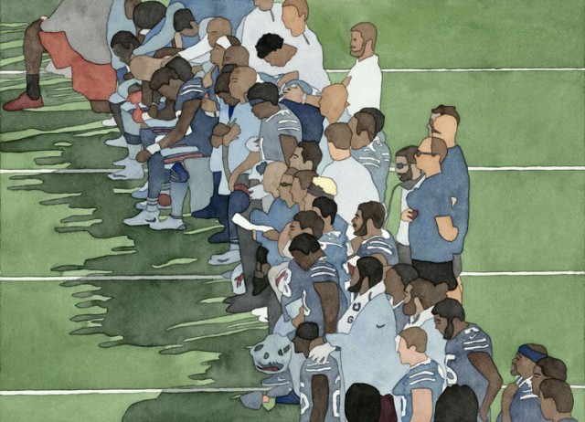 Kota Ezawa, National Anthem (Buffalo Bills), 2019 Duratrans transparency and lightbox 22 x 30 inches | Edition of 5 + 2 AP | HG15158