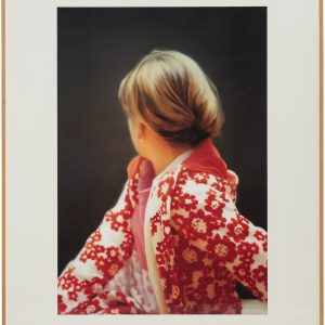 Gerhard Richter, Betty, 1991, color offset print on cardboard, mounted on plastic board, in frame, 50 1/4 × 40 inches (127.5 × 101.5 cm), edition of 25 © Gerhard Richter 2019 (07102019)