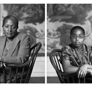 Dawoud Bey, The Birmingham Project: Betty Selvage and Faith Speights, 2012, archival pigment prints mounted to dibond, 40 x 64 in.