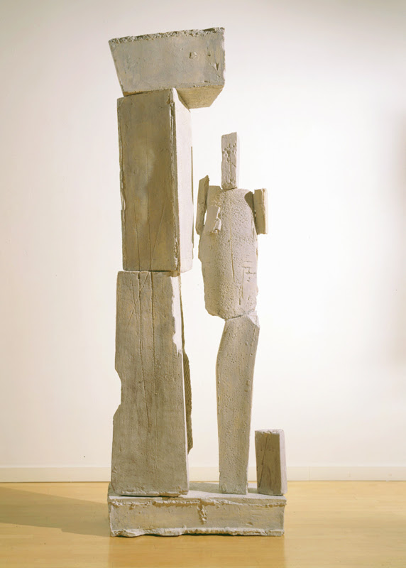 Dennis Gallagher, Untitled, ceramic, 92 x 35 x 19 in.