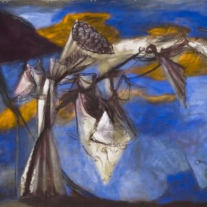 The Angel of the Annunciation (detail), 1988, acrylic on canvas, 210 x 700 cm, 82 5/8 x 275 5/8 in., Musée d'Art Moderne et Contemporain de Saint-Étienne Métropole