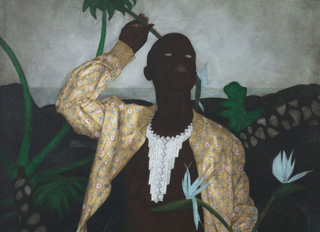 Cinga SAMSON, Ivory (II), 2018. Oil on canvas, 46 7/8 x 37 1/16 x 1 3/4 in / 119 x 94 x 4.5 cm. © Courtesy of the artist and Perrotin.