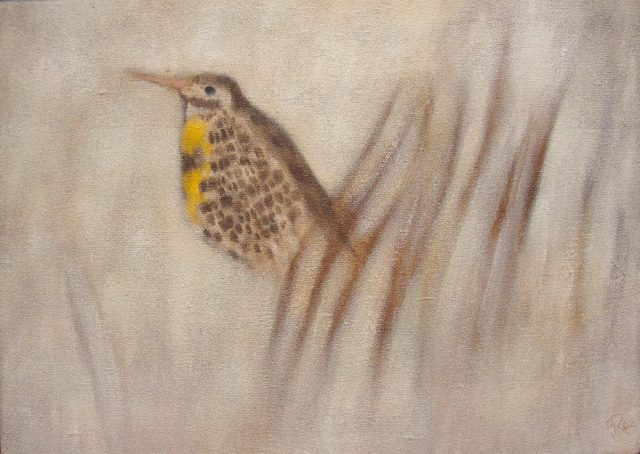 Fred Reichman, Spring Coming is a Meadowlark,, 1962, alkyd on linen, 15 x 21 inches