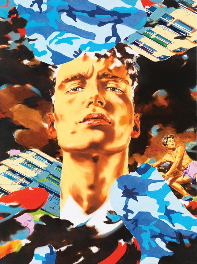 Norbert Bisky, Noctambule, 2020, oil on canvas, 200 x 150 cm, 78 3/4 x 59 in.