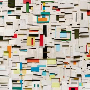 Vik Muniz, Surfaces: Gibi, 2019, mixed media, one of a kind, 54.6 x 78 in.