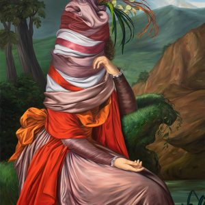 Ewa Juszkiewicz, Untitled (after Elisabeth Vigée Le Brun), 2020, oil on canvas, 63 × 47 1/4 inches (160 × 120 cm) © Ewa Juszkiewicz