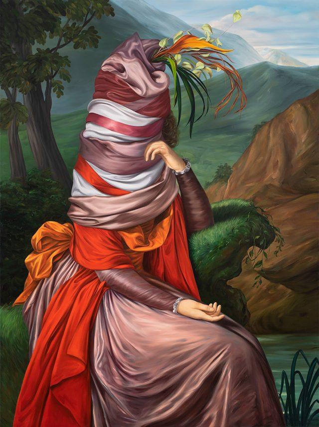 Ewa Juszkiewicz, Untitled (after Elisabeth Vigée Le Brun), 2020, oil on canvas, 63 × 47 1/4 inches (160 × 120 cm) © Ewa Juszkiewicz