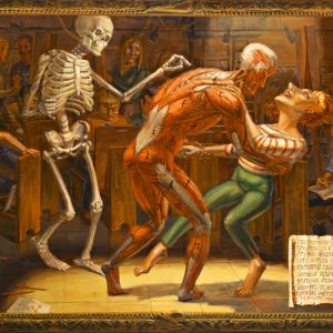 "M.Louise Stanley, ""Anatomy Lesson"" 2003, acrylic on canvas, 72 x 96"""