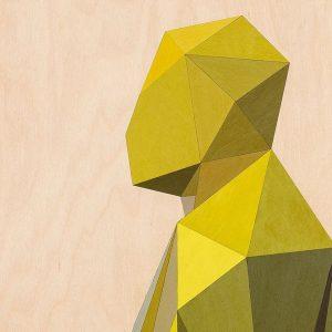 Xavier Veilhan, Tony (detail), 2020 Birch plywood, acrylic paint 80 x 60 x 2.5 cm | 31 1/2 x 23 5/8 x 1 inch Photographer: Claire Dorn © Veilhan / ADAGP, 2021. Courtesy Perrotin