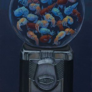 Bubblegum Machine. 24x12 oil on panel. 2021