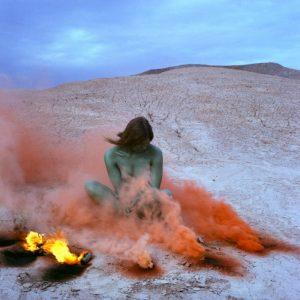 Judy Chicago, Immolation, 1972, 2019, 48 x 48″